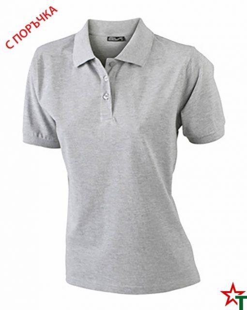 Heather Grey Дамска риза Lady Classic Polo