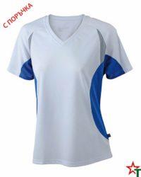 White-Royal Blue Дамска спортна тениска Lady Run