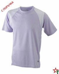 Lilac-White Мъжка спортна тениска Run
