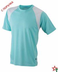 Mint-White Мъжка спортна тениска Run