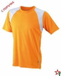 Orange-White Мъжка спортна тениска Run