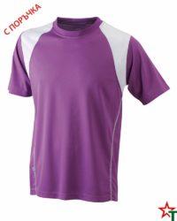 Purple-White Мъжка спортна тениска Run