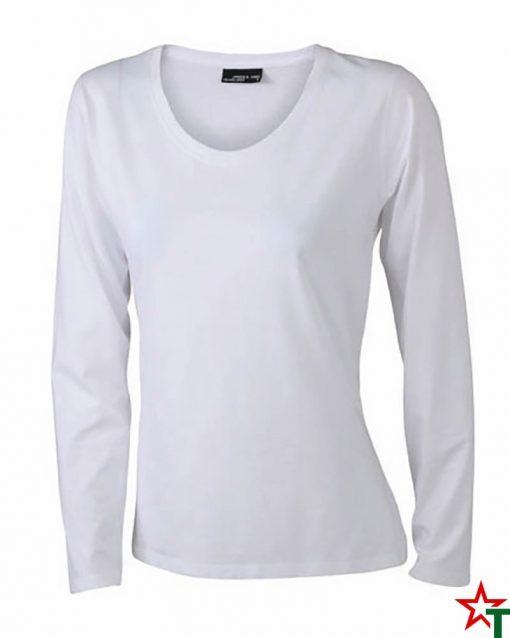 White Дамска тениска Silva Long Medium