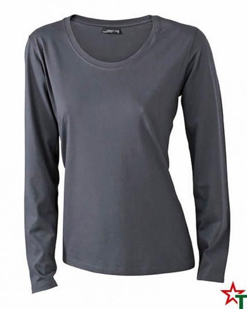 Light Graphite Дамска тениска Silva Long Medium