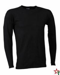 Black Мъжка тениска Sten Long Medium