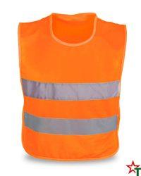 455 Orange Neon Детска светлоотразителна жилетка