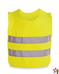 455 Yellow Neon Детска светлоотразителна жилетка