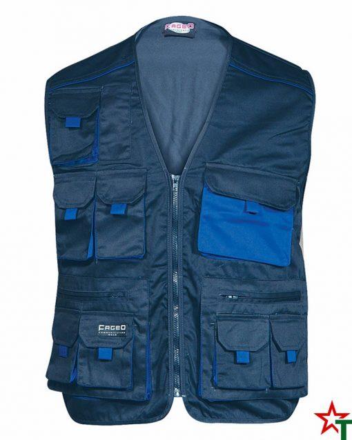 Navy - Royal Blue Работен елек Vest Pockets