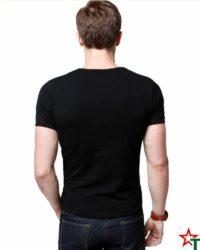 Black Мъжка тениска Man Slim Lycra