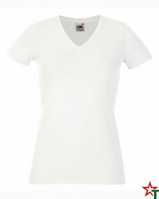 White Дамска тениска Lady Elegant V Neck