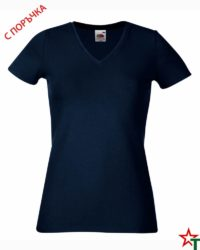 Deep Navy Дамска тениска Lady Elegant V Neck