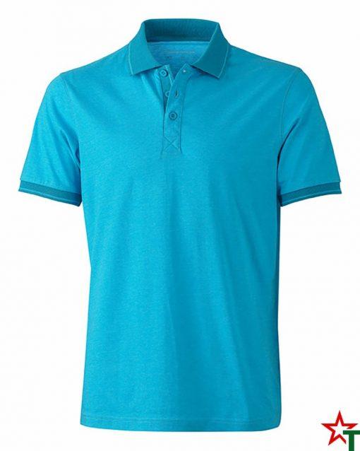 Тюркоазен меланж Мъжка риза Polo Heather