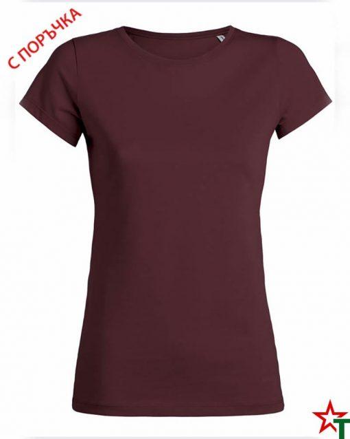 Burgundy Дамска тениска Wants
