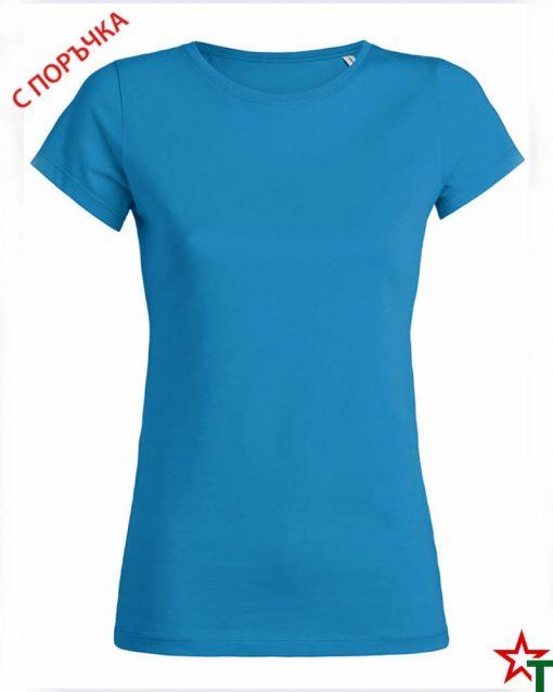 Azure Blue Дамска тениска Wants