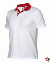 White - Red Мъжка риза с къс ръкав Borneos
