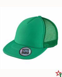 Kelly Green Пет панелма шапка Flat Peak Cap