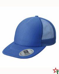 Royal Blue Пет панелма шапка Flat Peak Cap