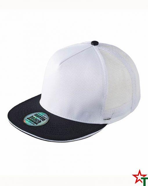 White - Black Пет панелна шапка Pro Cap Mesh