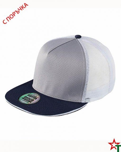 White - Navy Пет панелна шапка Pro Cap Mesh