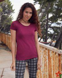 1303-4 Дамска тениска Ringspun Pre T Lady-Fit