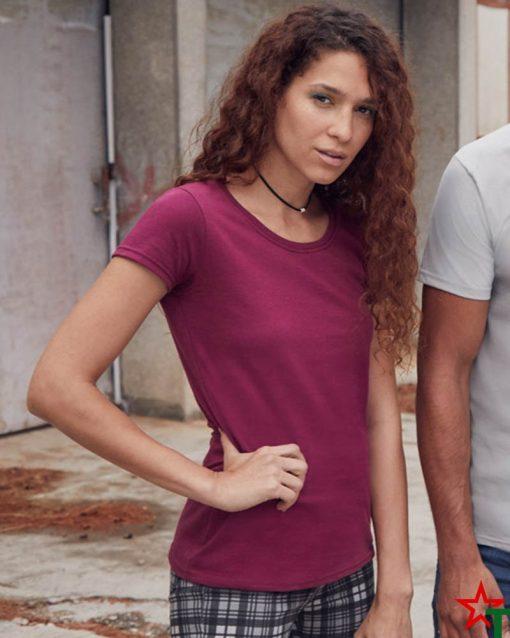 1303-5 Дамска тениска Ringspun Pre T Lady-Fit