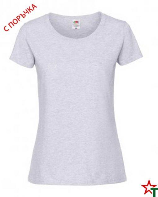 1303 Ash Дамска тениска Ringspun Pre T Lady-Fit
