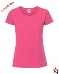 1303 Fuchsia Дамска тениска Ringspun Pre T Lady-Fit