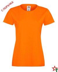 1303 Orange Дамска тениска Ringspun Pre T Lady-Fit