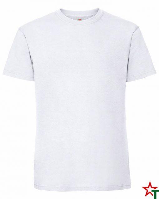 BG586 White Мъжка тениска Ringspun Pre T