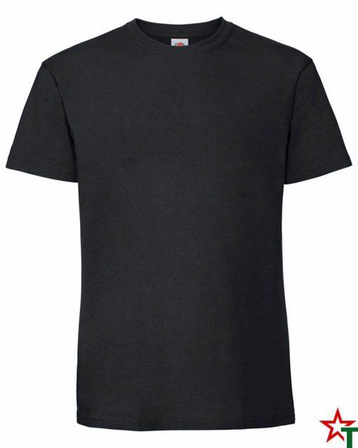 BG586 Black Мъжка тениска Ringspun Pre T
