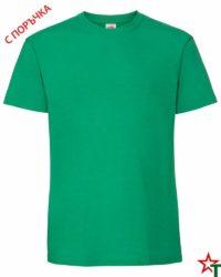 BG586 Kelly Green Мъжка тениска Ringspun Pre T
