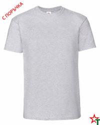Heather Grey Мъжка тениска Ringspun Pre T
