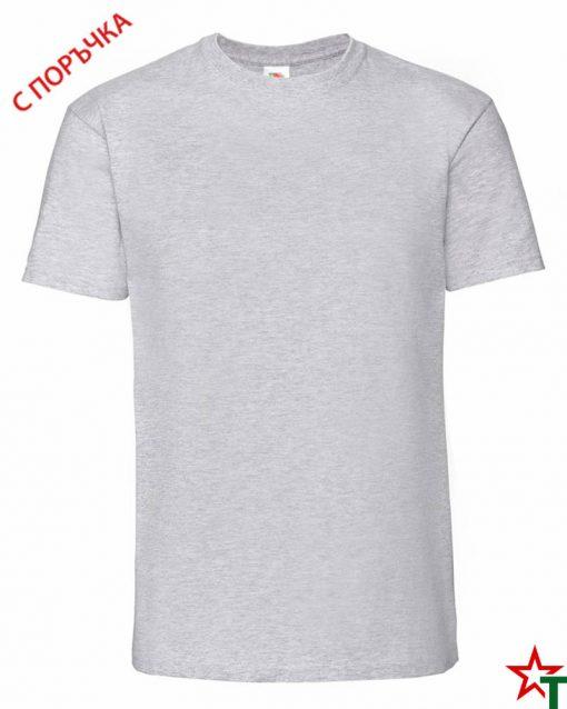 BG586 Heather Grey Мъжка тениска Ringspun Pre T