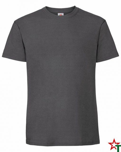 BG586 Light Graphite Мъжка тениска Ringspun Pre T