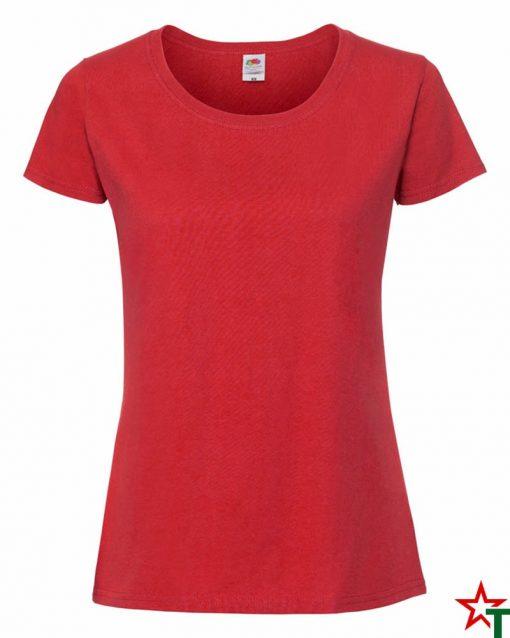 Red Дамска тениска Ringspun Pre T Lady-Fit