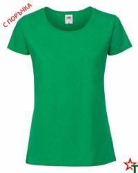 Kelly Green Дамска тениска Ringspun Pre T Lady-Fit