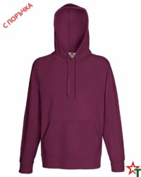 Burgundy Мъжки суитчър Lightweight Hooded S