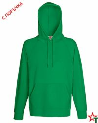 Kelly Green Мъжки суитчър Lightweight Hooded S