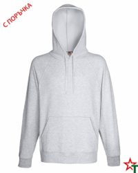 Heather Grey Мъжки суитчър Lightweight Hooded S