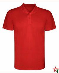 BG380 Red Мъжка спортна риза Polo Monsa Polyester