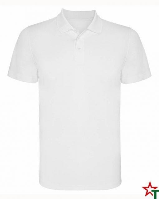 BG380 White Мъжка спортна риза Polo Monsa Polyester