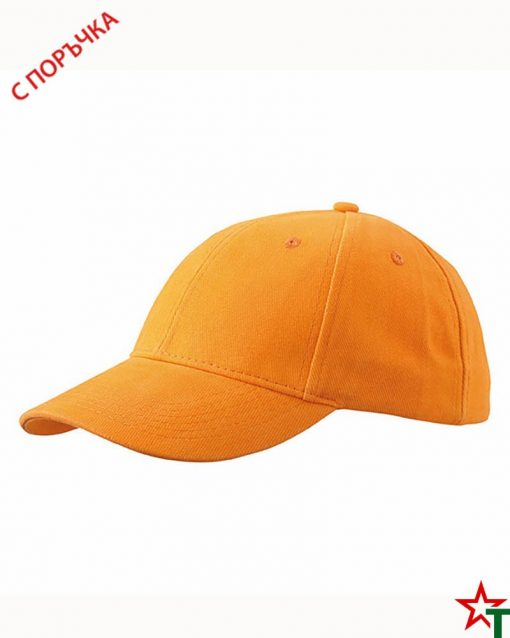 BG496 Light Orange Шапка 6 Panel Laminate