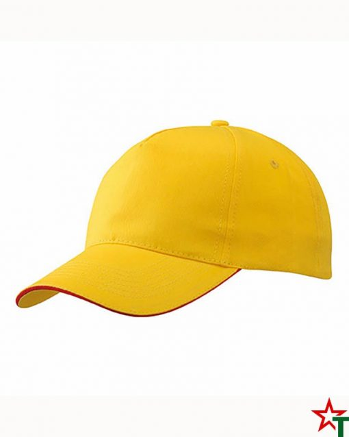 BG691 Yellow - Red Шапка 5 Panel ProCap