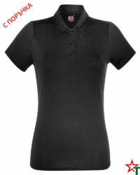 BG847 Black Дамска риза Perform Polo Polyester