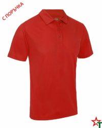 BG871 Red Мъжка риза Performans Polo Polyester