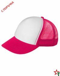 BG1189 White - Magenta Пет панелна шапка Kanas