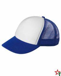 BG1189 White - Royal Blue Пет панелна шапка Kanas