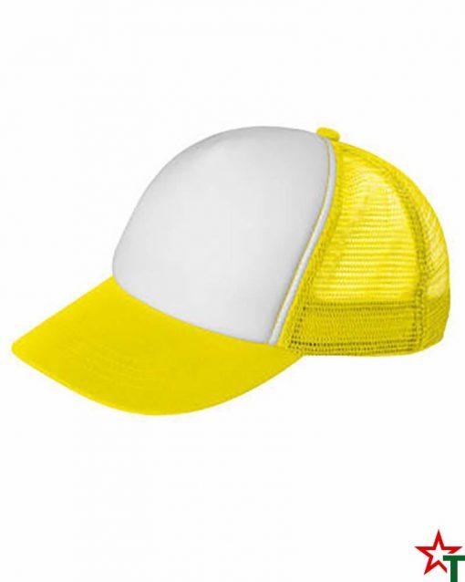 BG1189 White - Yellow Пет панелна шапка Kanas