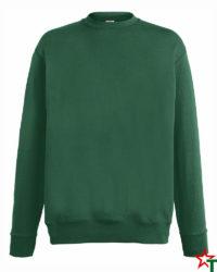 BG110 Bottle Green Мъжка ватена блуза Light Sweat Set-In
