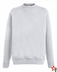 BG110 Heather Grey Мъжка ватена блуза Light Sweat Set-In